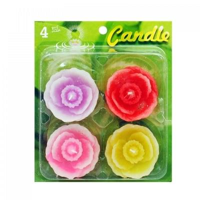 Плаващи свещи Цветя - 4 броя