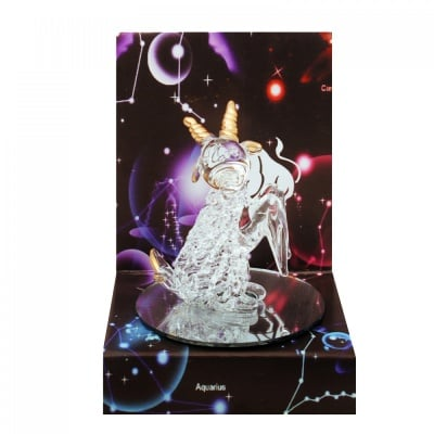Стъклена фигурка - зодия Козирог