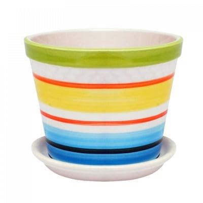 Саксия с чинийка