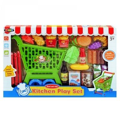 Комплект количка за супермаркет с продукти