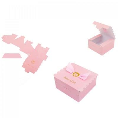 Картонени подаръчни  кутийки за бебешки събития - розова, COSMOPOLIS