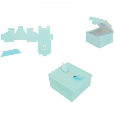 Картонени подаръчни  кутийки за бебешки събития -синя, COSMOPOLIS