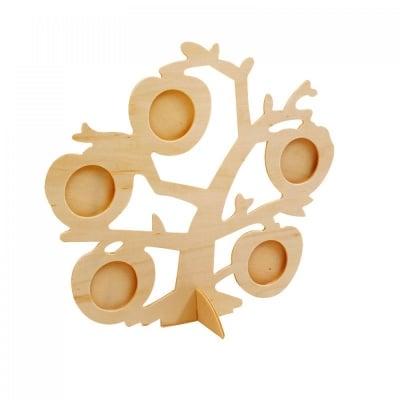 Колаж за 5 снимки - бяло дърво, COSMOPOLIS