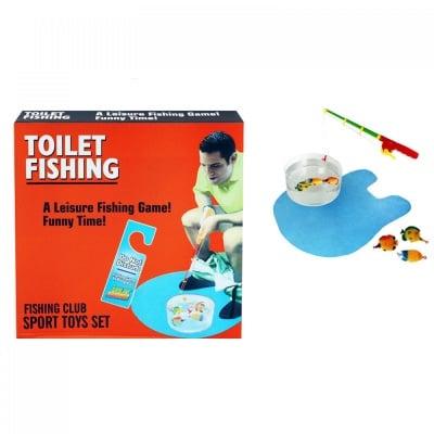 Забавна игра Риболов за тоалетна