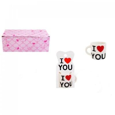 Мини чашка с послание - I Love You, COSMOPOLIS