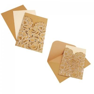 Лазарно изрязана поздравителна картичка с релефни елементи, COSMOPOLIS