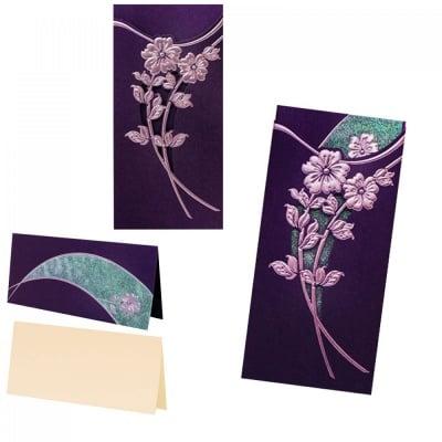 Поздравителна картичка с брокат от перлен картон, COSMOPOLIS