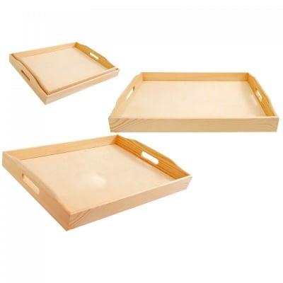 Комплект дървени табли 2 в 1, COSMOPOLIS