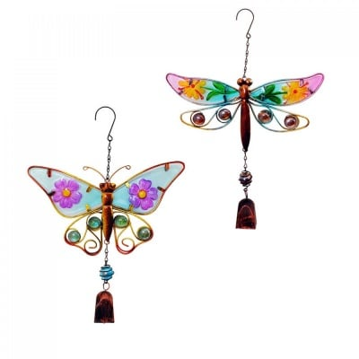 Вятърен чан с камбанка /пано - водно конче или пеперуда/