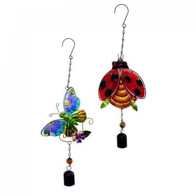 Вятърен чан с камбанка /пано - калинка или пеперуда/