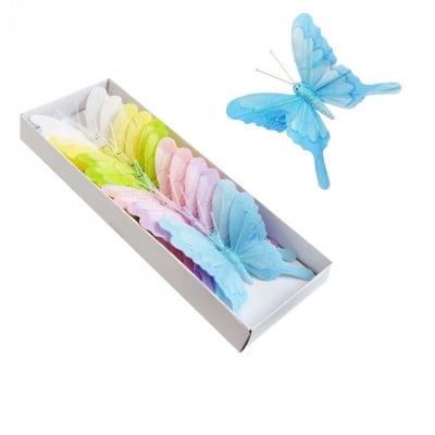 Пеперуди на телче - 12 броя в кутия - микс, COSMOPOLIS