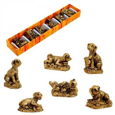 Комплект кучета - резин /6 броя в кутия - микс/