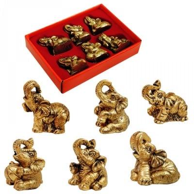 К-кт слончета - резин /6 броя в кутия - микс/