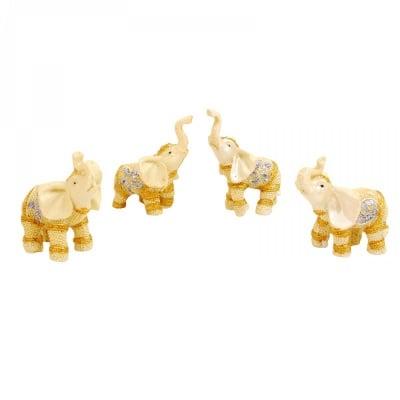К-кт 4 броя слончета /мини/ с инкрустации