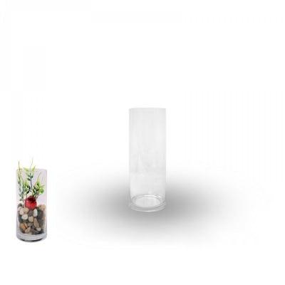 Ваза - цилиндър /дебело стъкло/