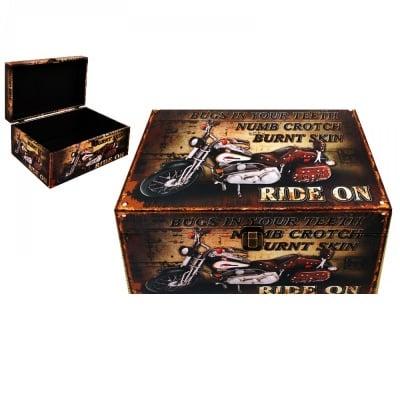 Кутия за съхранение, кожа 34х22х16 см