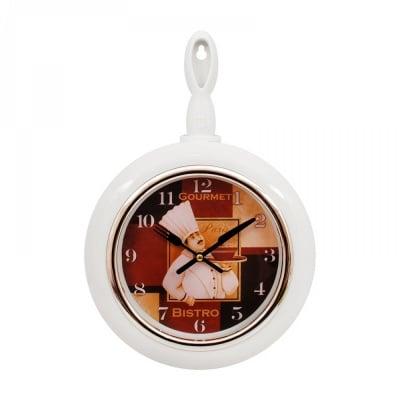 """Стенен часовник """"Тиган"""" /бял/"""