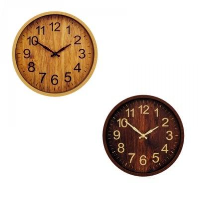 Стенен часовник /имитация на дърво/