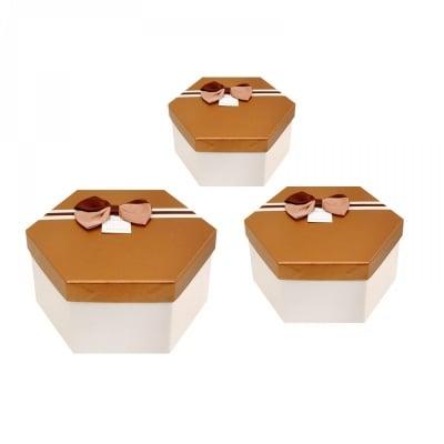 Луксозна подаръчна кутия /шестоъгълна/