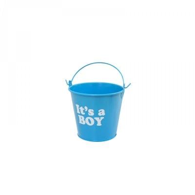"""Метална кофичка """"It's a BOY"""" /син/"""