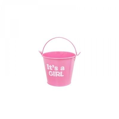 "Метална кофичка ""It's a GIRL"" /розов/"