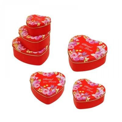 """Метални кутии """"Сърце"""" 3 в 1"""