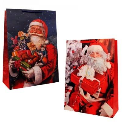 Коледна подаръчна торбичка - ГИГАНТ /12 броя в опаковка - микс/