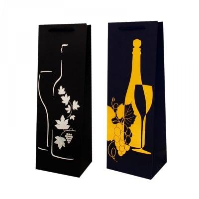 Луксозна подаръчна торбичка за бутилка /хартия/