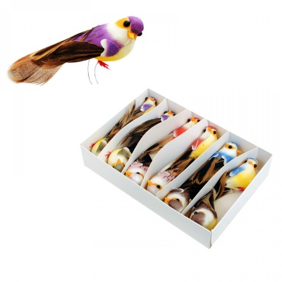 Птиче за декорация с естествени пера