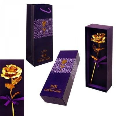Златна Роза в кутия /с подаръчна торбичка/