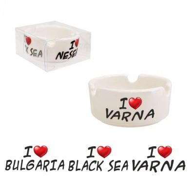 "Пепелник ""I LOVE BULGARIA - I LOVE BLACK SEA - I VARNA"""