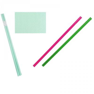 К-кт 2 броя опаковъчна хартия - точки  /100 см. х 70 см./