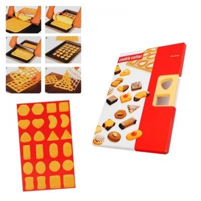 Шаблон за изрязване на 24 бисквити