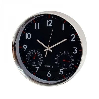Стенен часовник с барометър и термометър