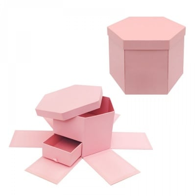 Подаръчна кутия - Албум с чекмедже /розов/