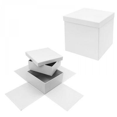 Подаръчна кутия - Албум на две нива /бял/