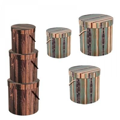 Подаръчна кутия с дръжки 3 в 1 /цилиндър/