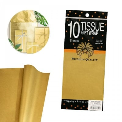 Тишу хартия - 10 листа /злато/