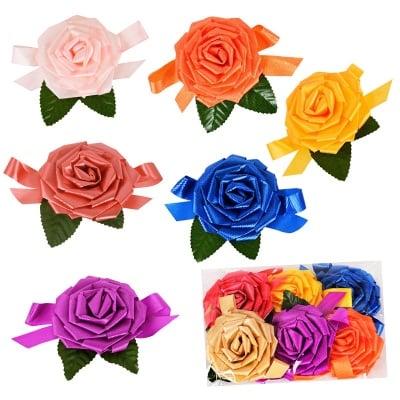 Рози с листенца /6 броя в стек - микс/
