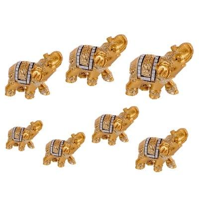 Слончета 7 броя с инкрустации /резин/