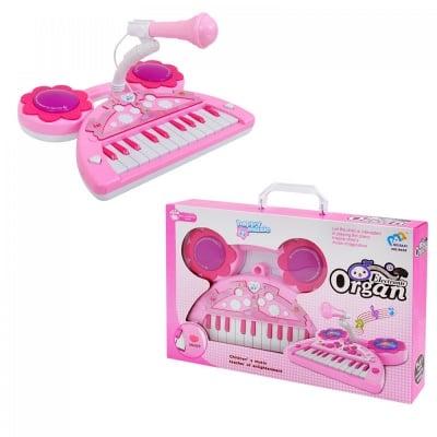 Пиано розово /на батерии/