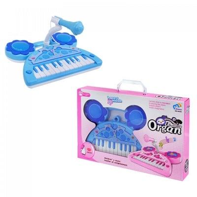Пиано синьо /на батерии/