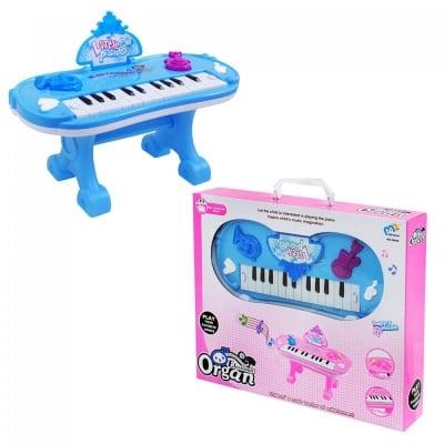 Пиано синьо /настолно на батерии/