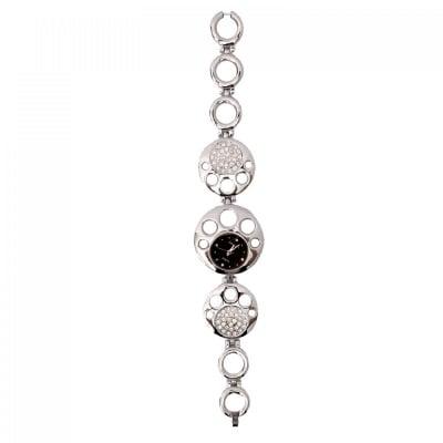 Стилен дамски часовник с камъни, COSMOPOLIS