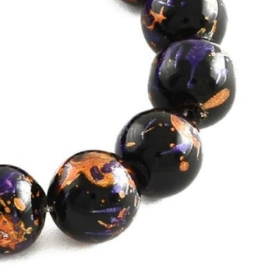 Наниз мъниста стъкло топче 8 мм дупка 1 мм рисувано ~104 броя