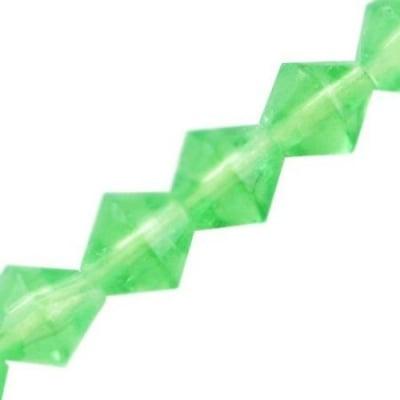 Наниз мъниста стъкло 5x4~5 мм дупка 1 мм прозрачно зелено ~65 броя