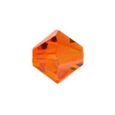 Мънисто Чешки кристал 4x3.6 мм цвят дупка 0.8 мм цвят изгрев -12 броя