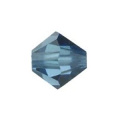 Мънисто Чешки кристал 5.7x6 мм цвят дупка 1 мм цвят сиво -12 броя