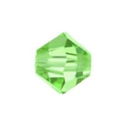 Мънисто Чешки кристал 5.7x6 мм цвят дупка 1 мм цвят оливин -12 броя