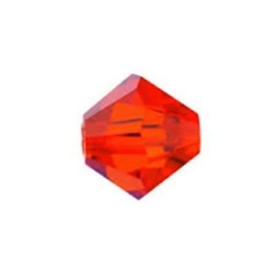 Мънисто Чешки кристал 5.7x6 мм цвят дупка 1 мм цвят хиацинт -12 броя